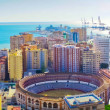 Stock Photo: Beautiful panoramview of Malagcity, Spain