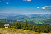 View from trail to the Pilsko Peak from Beskidy mountains, Polan — Stock Photo