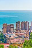 Beautiful view of Malaga city, Spain — Stock Photo