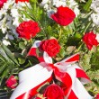 Composition of red and white flowers — Stock Photo #33433587