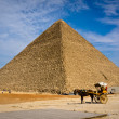 Pyramid of Khafre in Giza, Egypt — Stock Photo