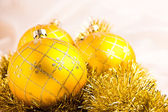 Beautiful colorful christmas baubles decoration — Stock Photo