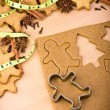 Baking ingredients for Christmas cookies and gingerbread  — Stock Photo