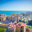 Beautiful view of Malaga city, Spain — Stock Photo