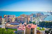Bellissima vista della città di malaga, spagna — Foto Stock