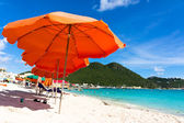 Beautiful beach in Philipsburg, Saint Martin, Carribean Islands — Stock Photo