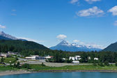 Beautiful view of Haines city near Glacier Bay, Alaska, USA — Foto de Stock