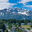 Stock Photo: Beautiful view of Haines city near Glacier Bay, Alaska, USA