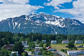 Beautiful view of Haines city near Glacier Bay, Alaska, USA — Foto Stock