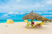 Beautiful beach in Aruba, Caribbean Islands, Lesser Antilles — Stock Photo