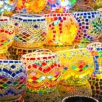 Oriental turkish lanterns at Istanbul market, Turkey — Stock Photo
