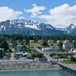 Beautiful view of Haines city near Glacier Bay, Alaska, USA — Стоковое фото