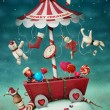Christmas fairy tale illustration — Foto Stock