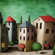 Stock Photo: Town, greeting card or illustration.