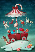 Christmas fairy tale illustration — Stok fotoğraf