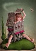 Illustration to the fairy tale Alice in Wonderland. — Stock Photo