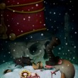 Stock Photo: Illustration to fairy tale Nutcracker