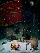 Illustration to fairy tale The Nutcracker — Stock Photo