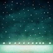 Arrière-plan de nuit hiver — Photo