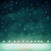 Winter night background — Stock Photo