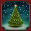 Stock Photo: Christmas background with decorated Christmas tree.