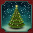 Christmas background with decorated Christmas tree. — Stok fotoğraf