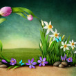 Spring background for greeting card — Stockfoto