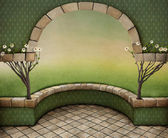Background with Arch — Stock Photo