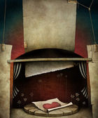 Conceptual illustration with texture elements — Stock Photo