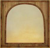 Wooden frame in metal framed — Stock Photo