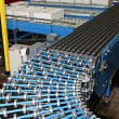 Stock Photo: Conveyor rollers line
