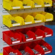 Stock Photo: Sorting parts bins