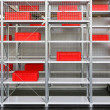 Storage shelves — Stock Photo