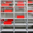 Storage shelves - Stock Photo
