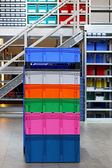Colourful crates — Stock Photo