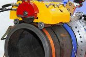 Máquina de corte de tubo — Foto Stock