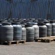 Stock Photo: Chemical barrels