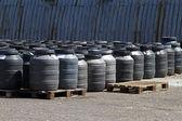 Chemical barrels — Stock Photo