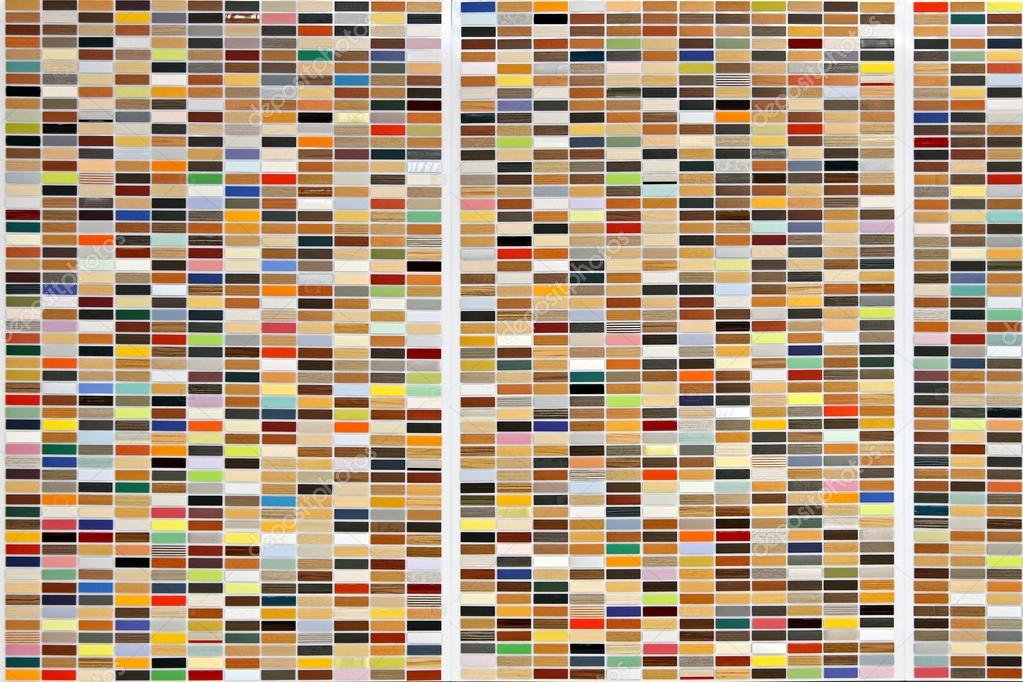 Mosaic tiles background with colorful rectangles pattern  Stock Photo #13241855