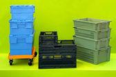 Plastic crates — Stock Photo