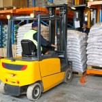 Forklift cargo — Stock Photo