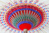 Old paper parasol — Stock Photo