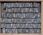 Yazıcı harfler — Stok fotoğraf