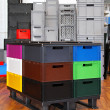 Crates and boxes — Stock Photo