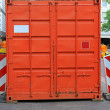 Royalty-Free Stock Photo: Orange cargo container