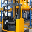 Stock Photo: Reach forklift truck