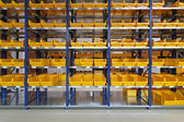 Warehouse bin trays — Stock Photo