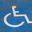 Handicapped sign — Stock Photo