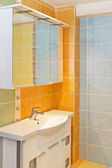 Bathroom orange — Stock Photo