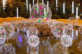 Night fountain d�cor — Stock Photo